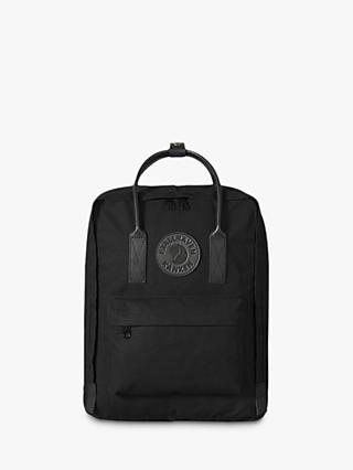 Fjällräven Kanken 2 Leather Trim Backpack, Black