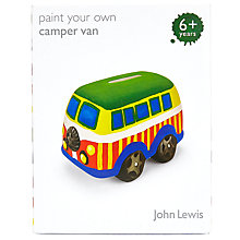 Buy John Lewis Paint Your Own Camper Van Money Box Online at johnlewis.com