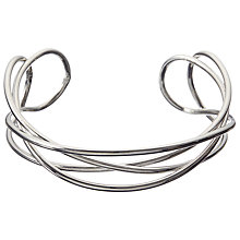 Buy John Lewis Sculpted Open Work Bangle, Silver Online at johnlewis.com
