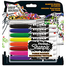 Buy Sharpie Fabric Markers, Pack of 8 Online at johnlewis.com
