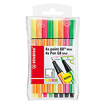 Buy Stabilo Mini Neon Coloured Pens, Pack of 8 Online at johnlewis.com