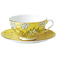Buy Wedgwood Tea Garden Lemon and Ginger Teacup and Saucer Online at johnlewis.com
