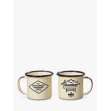 Buy Gentlemen's Hardware Enamel Espresso Cup Set, Cream Online at johnlewis.com