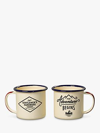 Gentlemen's Hardware Enamel Espresso Cup Set, Cream