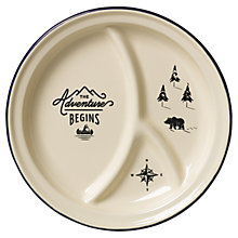 Buy Gentlemen's Hardware Enamel 27cm Divided Plate, Cream Online at johnlewis.com
