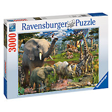 Buy Ravensburger Animals At Waterhole 3000 Piece Jigsaw Puzzle Online at johnlewis.com