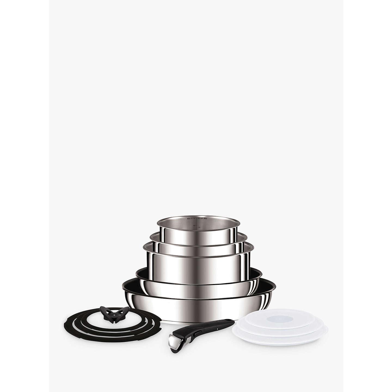 tefal ingenio stainless steel pan set 13 piece at john lewis. Black Bedroom Furniture Sets. Home Design Ideas