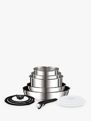 Tefal Ingenio Stainless Steel Pan Set, 13 Piece