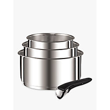 Buy Tefal Ingenio Stainless Steel 4 Piece Saucepan Set Online at johnlewis.com