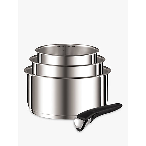 buy tefal ingenio stainless steel 4 piece saucepan set. Black Bedroom Furniture Sets. Home Design Ideas