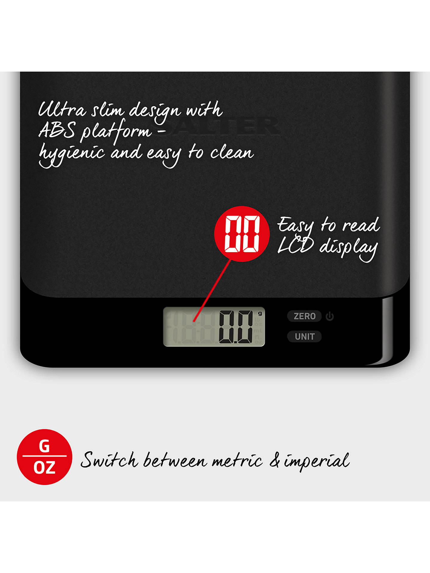 BuySalter Arc Pro Stainless Steel Kitchen Platform Scale Online at johnlewis.com