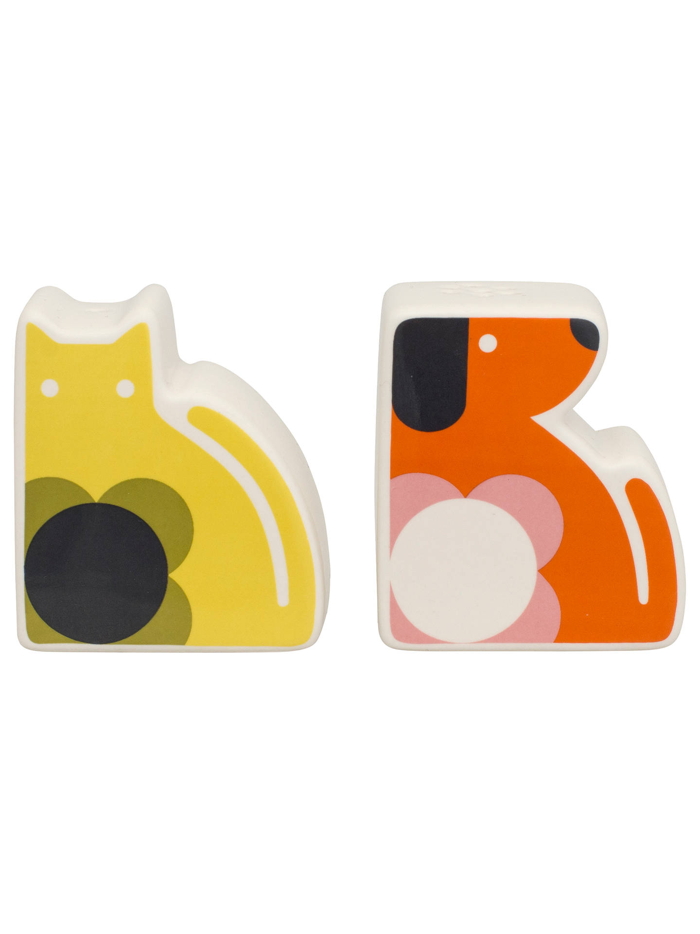 Orla Kiely Cat and Dog Salt and Pepper Set at John Lewis & Partners
