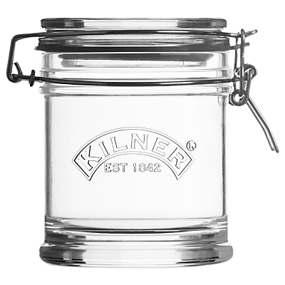 Kilner Signature Clip Top Storage Jar, 450ml, Clear