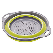 Buy Kitchen Craft Colourworks Collapsible Colander, Green Online at johnlewis.com