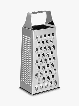 John Lewis & Partners Stainless Steel Box Grater