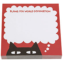 Buy Gemma Correll Sneaky Cat Sticky Notes Online at johnlewis.com