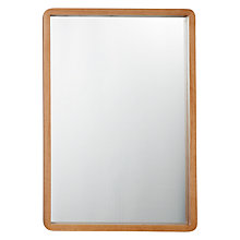 Buy House by John Lewis Rounded Mirror, 50 x 75cm, Oak Online at johnlewis.com