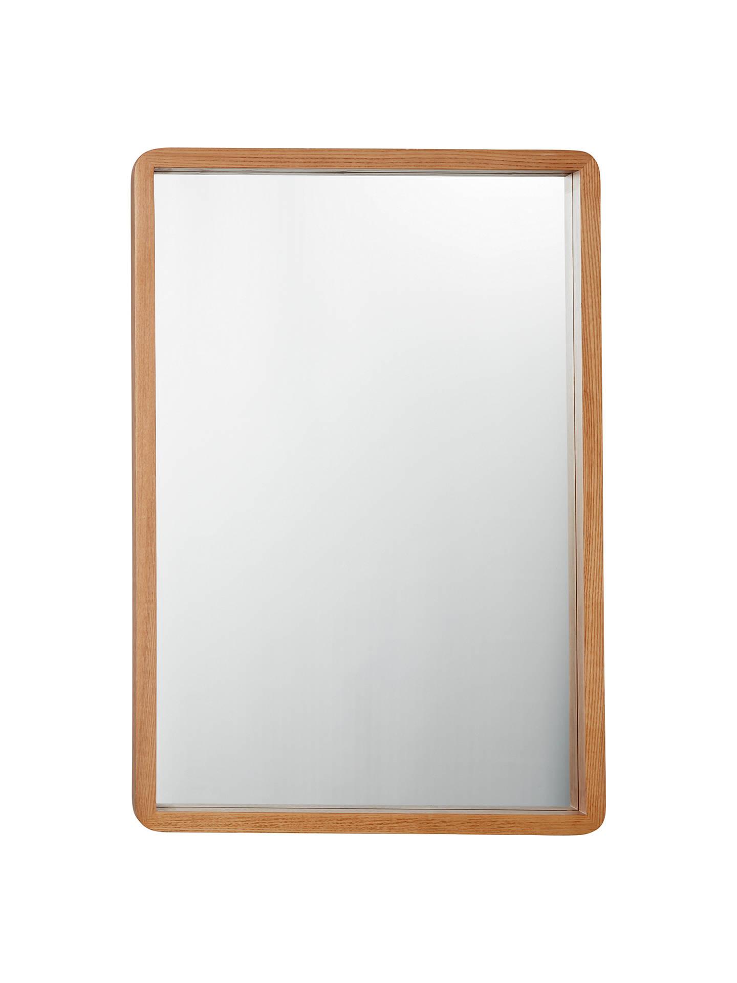 Tilbury round metal mirror set in square frame