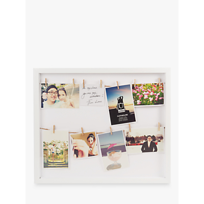 Umbra Clothesline Multi-aperture Photo Frame, White