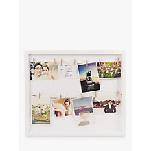 Buy Umbra Clothesline Multi-aperture Photo Frame, White Online at johnlewis.com