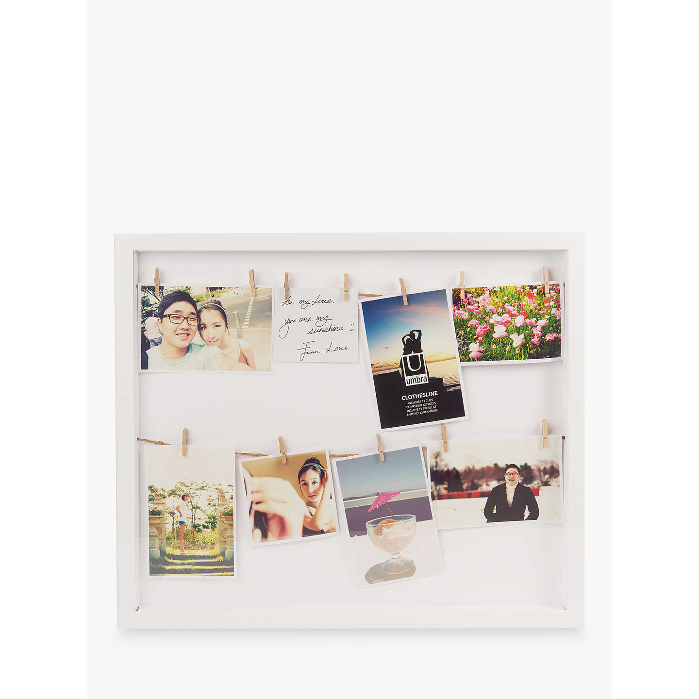 Umbra Clothesline Multi Aperture Photo Frame, White by Umbra