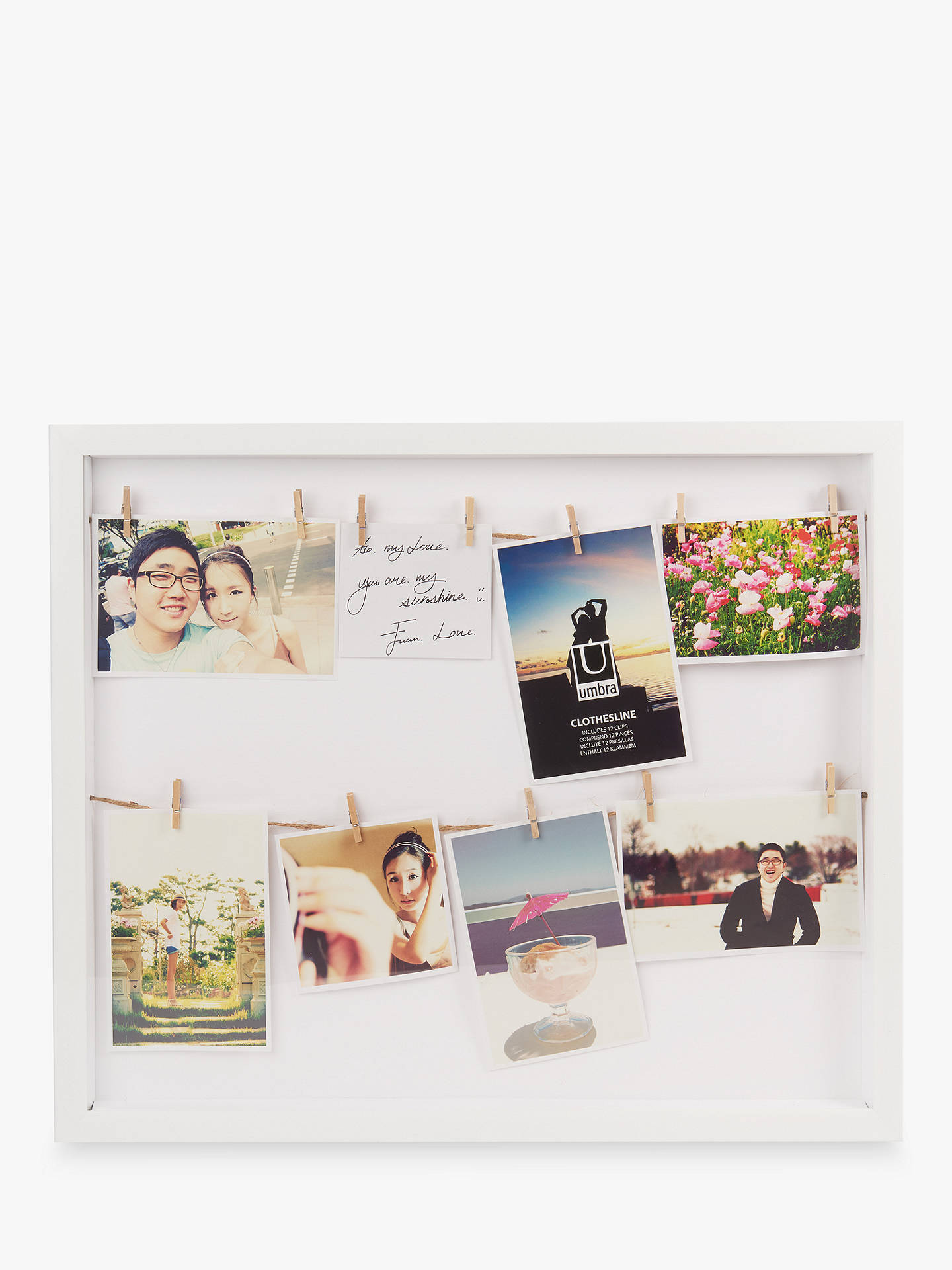 BuyUmbra Clothesline Multi-aperture Photo Frame, White Online at johnlewis.com