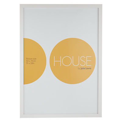 House by John Lewis MDF Wrap Wood Photo Frame, 50 x 70cm