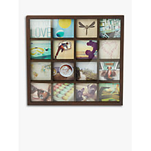 "Buy Umbra Gridart Photo Display, 16 Photo, 4 x 4"", Walnut Online at johnlewis.com"