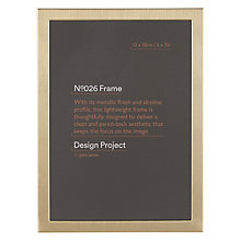 "Buy Design Project by John Lewis No.026 Brass Gold Finish Photo Frame, 5 x 7"" Online at johnlewis.com"