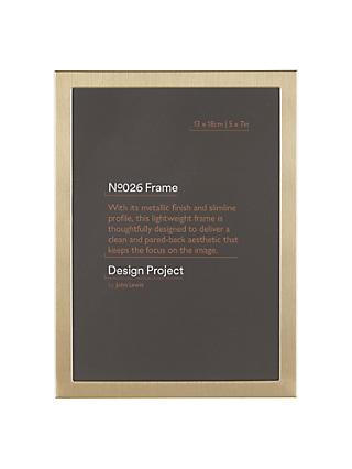 Design Project by John Lewis No.026 Brass Gold Finish Photo Frame, 5 x 7""