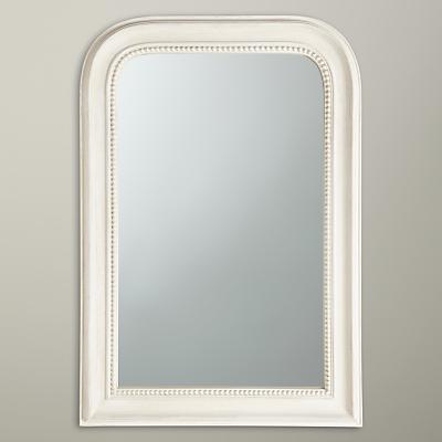 John Lewis Distressed Overmantel Mirror, 80 x 55cm, Cream