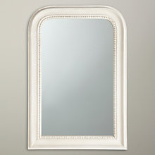 Buy John Lewis Distressed Overmantel Mirror, Cream, 80 x 55cm Online at johnlewis.com