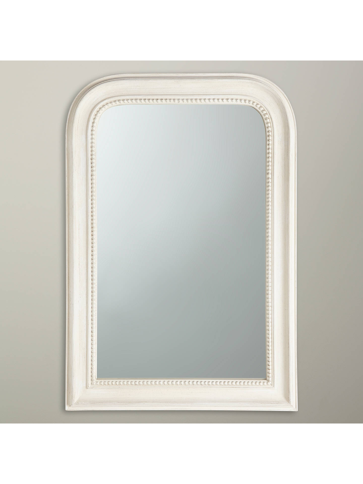 john lewis distressed overmantel mirror 80 x 55cm cream. Black Bedroom Furniture Sets. Home Design Ideas