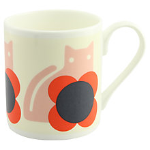Buy Orla Kiely Cat Mug, Red Online at johnlewis.com
