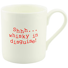 Buy McLaggan Smith 'Shh Whisky In Disguise' Mug Online at johnlewis.com