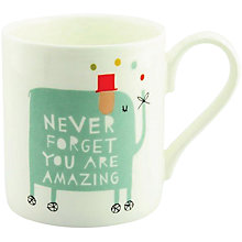 Buy McLaggan Smith Freya Ete 'Never Forget You Are Amazing' Mug Online at johnlewis.com