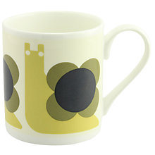 Buy Orla Kiely Snail Mug, Olive Online at johnlewis.com