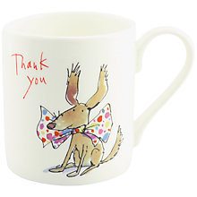 Buy McLaggan Smith Quentin Blake 'Thank You' Dog Mug Online at johnlewis.com
