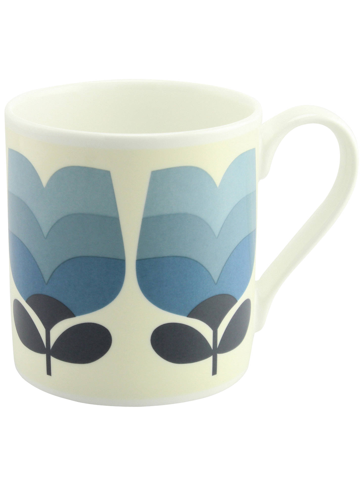 Buy Orla Kiely Stripe Tulip Mug, 400ml, Blue Online at johnlewis.com