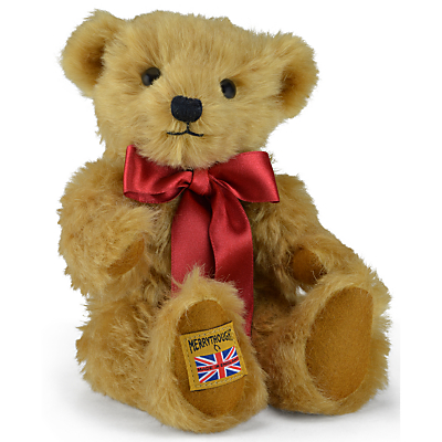 Merrythought Traditional Gold Mohair Teddy Bear, H25cm