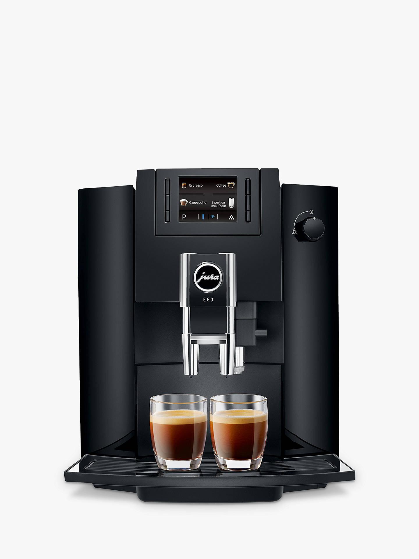 Jura Impressa E60 Bean To Cup Coffee Machine Piano Black