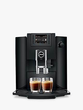 Jura Impressa E60 Bean-to-Cup Coffee Machine, Piano Black