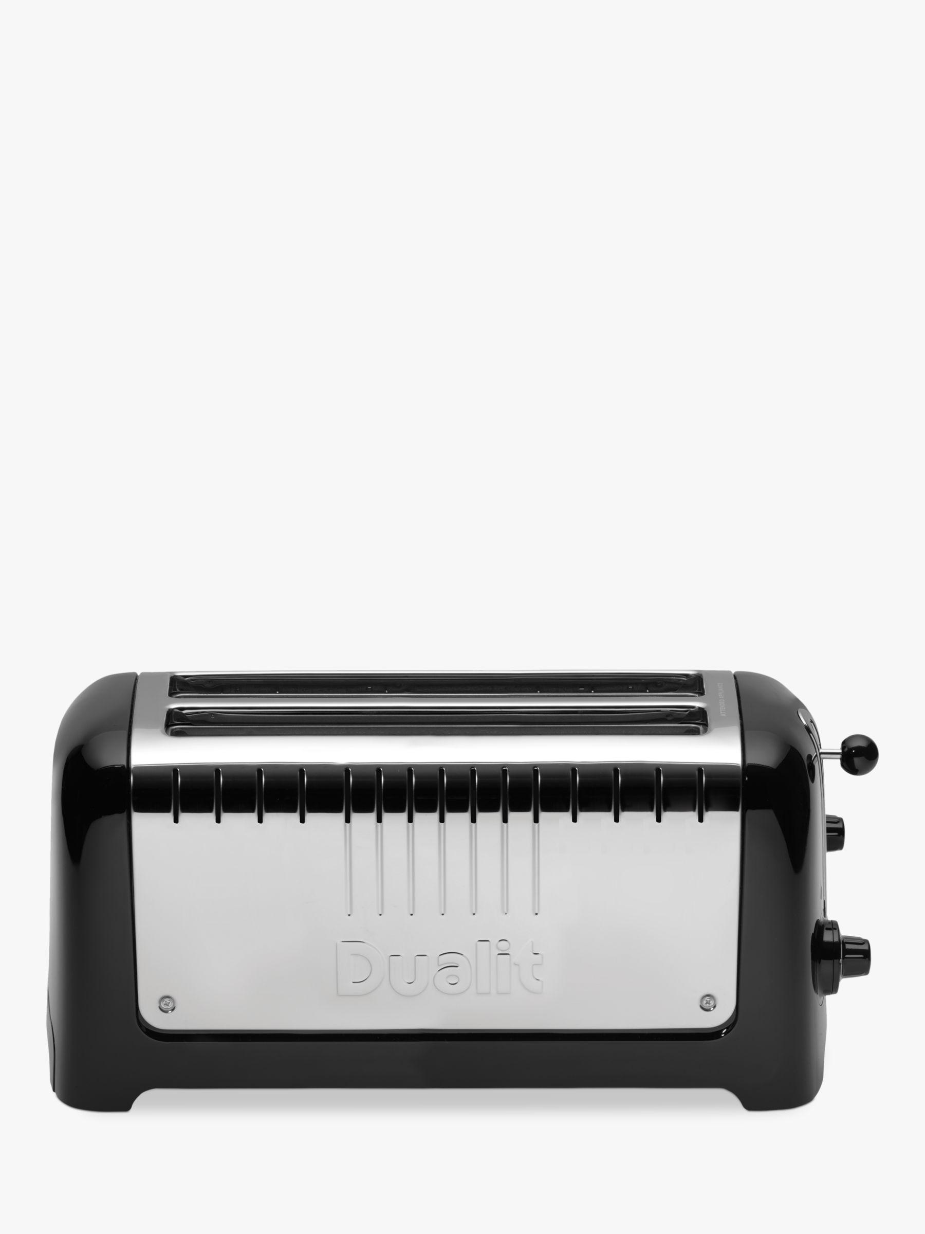 Dualit Dualit 2-Slot Long Lite Toaster, Black Gloss