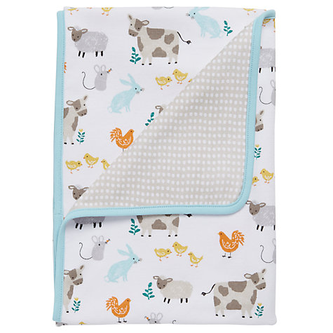 buy john lewis baby farmyard blanket online at