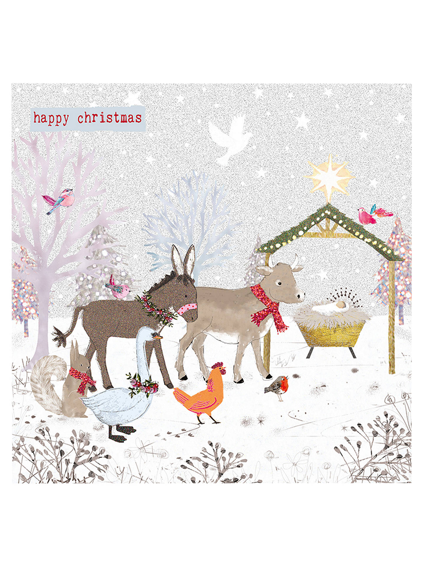 Hammond Gower Animal Nativity Charity Christmas Cards, Pack of 5 at ...