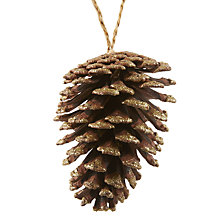 Buy John Lewis Ruskin House Pine Cone Bauble, Gold Online at johnlewis.com