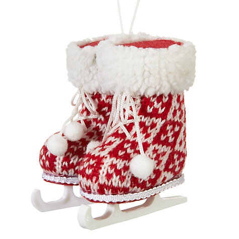 John Lewis Chamonix Ice Skating Boots Tree Decoration