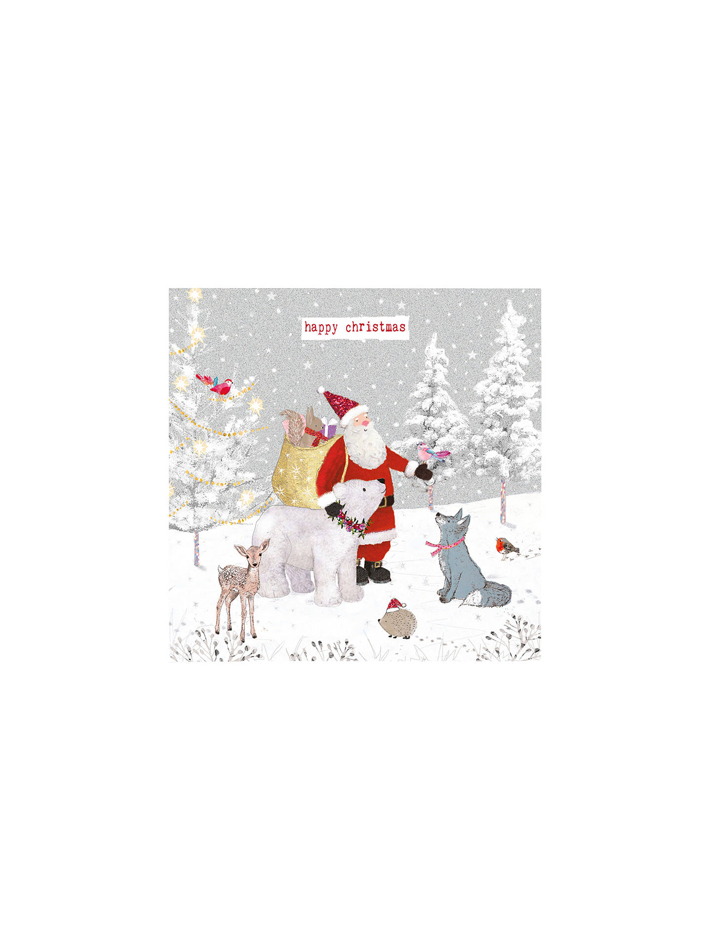 buyhammond gower santas animal friends charity christmas cards pack of 5 online at johnlewis - Animal Charity Christmas Cards