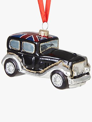 John Lewis & Partners Tourism Union Jack Classic Car Bauble