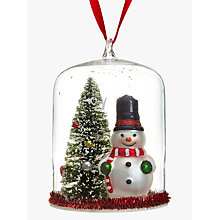 Buy John Lewis Snowman And Tree Dome Bauble Online at johnlewis.com
